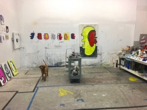 Studio with Kate fetching baseball 2018