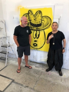 Me with Hung Liu in my Eagle Studio 2018